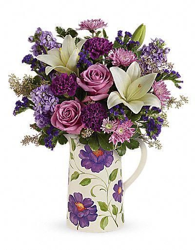 Teleflora's Garden Pitcher Bouquet