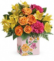 Teleflora's Painted Blossoms Bouquet Flowers