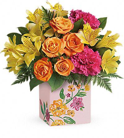 Teleflora's Painted Blossoms Bouquet
