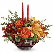 Teleflora's Autumn Gathering Centerpiece Flowers