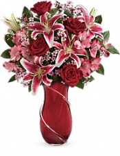 Teleflora's Wrapped With Passion Bouquet Flowers