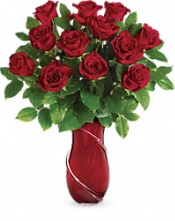 Teleflora's Wrapped In Roses Bouquet Flowers