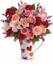 Lovely Hearts Bouquet Flowers