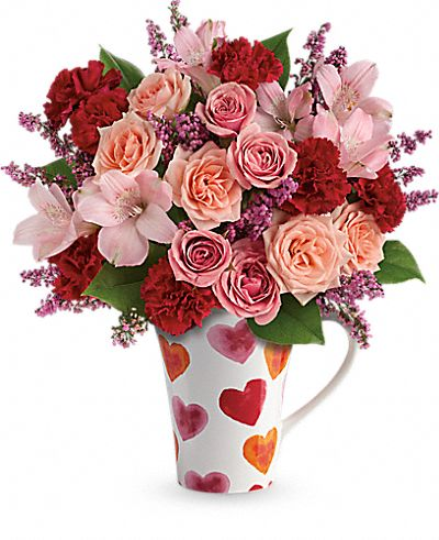 Teleflora's Lovely Hearts Bouquet