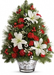 Teleflora's Festive Trimmings Tree Flowers