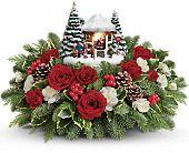 Thomas Kinkade's Jolly Santa Bouquet, picture