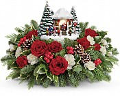 Thomas Kinkade's Jolly Santa Bouquet Flowers