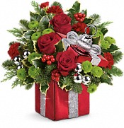 Teleflora's Gift Wrapped Bouquet Flowers