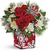 Teleflora's Silver Christmas Bouquet Flowers