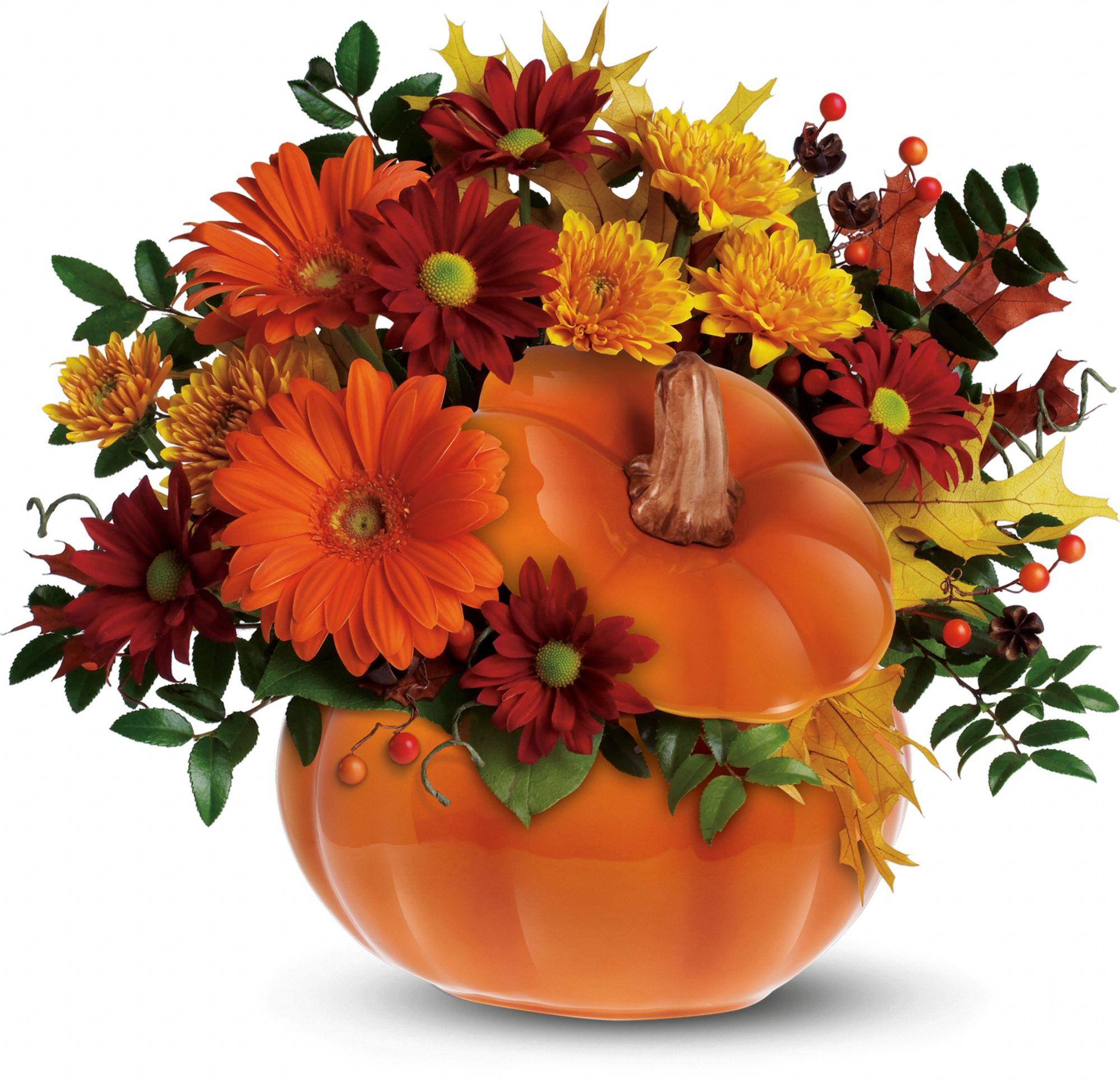 Teleflora's Country Pumpkin Flowers