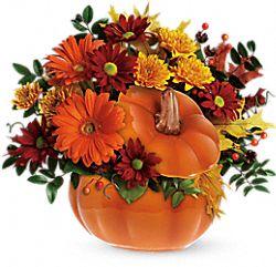 Country Pumpkin Flowers