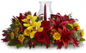 Glow of Gratitude Centerpiece Flowers