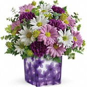 Teleflora's Dancing Violets Bouquet Flowers