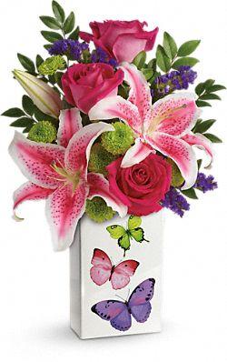 Bouquet de fleurs Papillons étincelants