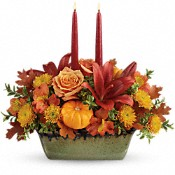 Country Oven Centerpiece Flowers
