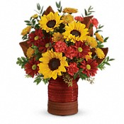 Sunshine Crock Bouquet Flowers