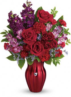 Fleurs du bouquet Cœur rayonnant