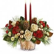 Teleflora's Winter Pines Centerpiece Flowers
