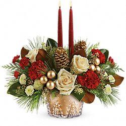 Fleurs pour centre de table Pins d'hiver