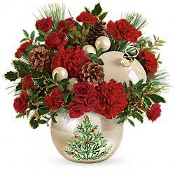 Bouquet de fleurs Ornement nacré classique