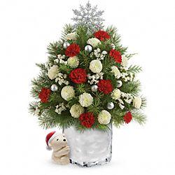 Fleurs Arbre de Noël floral Ourson câlin