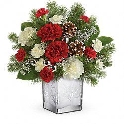 Bouquet de fleurs Forêt hivernale