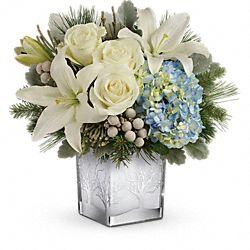 Bouquet de fleurs Neige argentée