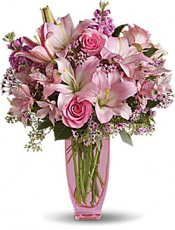 Teleflora's Pink Pink Bouquet with Pink Roses Flowers