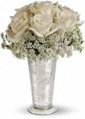 Teleflora's White Lace Centerpiece Flowers