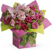 Pretty Pink Present Flowers