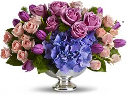 Teleflora's Purple Elegance Centerpiece Flowers