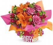Teleflora's Rosy Birthday Present Flowers