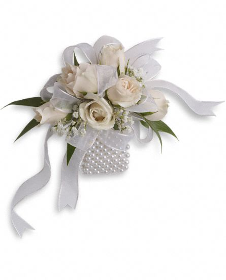 White Whisper Wristlet Flowers