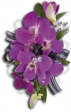 Purple Promise Wristlet Flowers