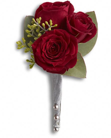 King's Red Rose Boutonniere Flowers
