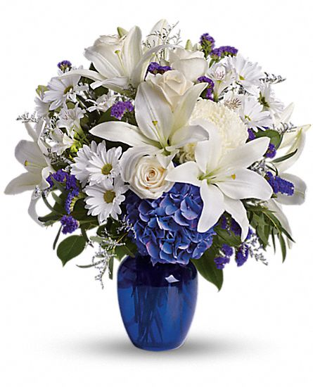 Beautiful in Blue Flowers