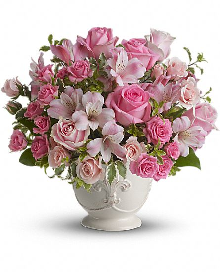 Pink potpourri bouquet with roses flowers pink potpourri for Pink roses flower arrangements