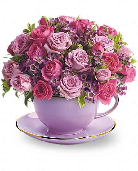 Cup Of Roses Bouquet Flowers Cup Of Roses Flower Bouquet