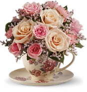 Victorian Teacup Bouquet Flowers
