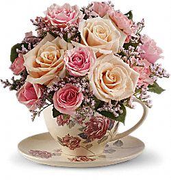 Fleurs Bouquet tasse victorienne