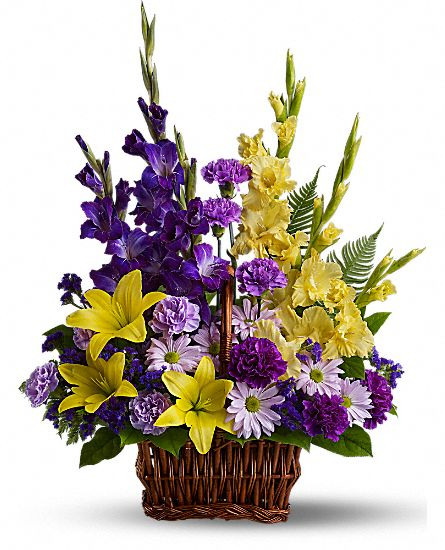 Flower Baskets Near Me : Basket of memories arrangement teleflora
