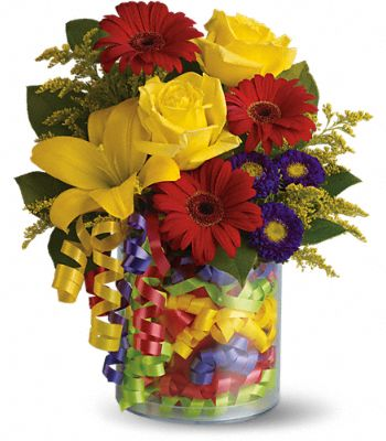 Teleflora's Birthday Ribbon Bouquet Flowers