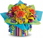 Rainbow Present Flowers