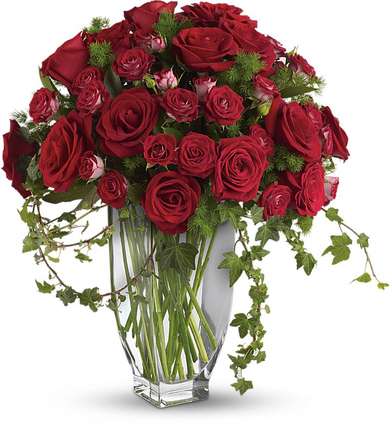 Teleflora's Rose Romanesque Bouquet - Red Roses Flowers