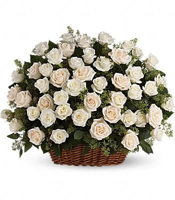 Bountiful Rose Basket Flowers