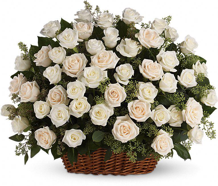 Bountiful Rose Basket Flowers