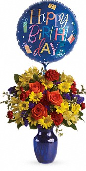 Fly Away Birthday Bouquet Flowers