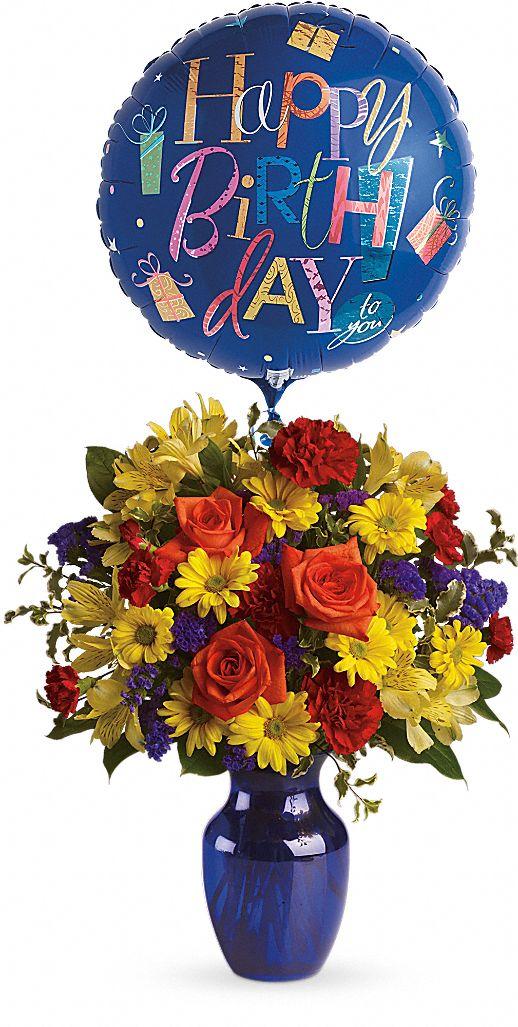 Fly Away Birthday Bouquet Flowers