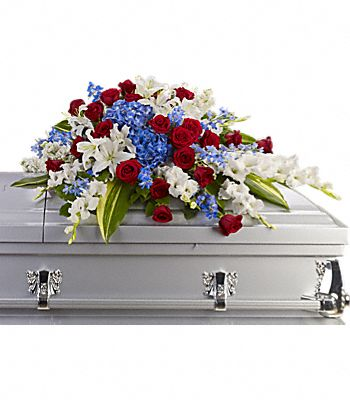 Distinguished Service Casket Spray Flowers