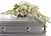 Bountiful Memories Casket Spray Flowers